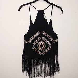 Haute Society | Festival Fringe Embroidered Top